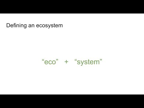 Ecosystems 1: Introduction to ecosystems and the effects that humankind has on them