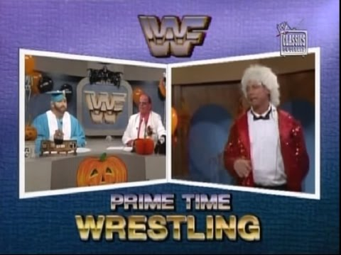 Roddy Piper, Gorilla and The Brain host Halloween Prime Time (10-30-1989)