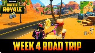 Fortnite: Season 5 Week 4 Secret Battle Star Location! Road Trip Challenge