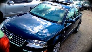 2003 Volkswagen Passat W8 4Motion Start Up, Quick Tour, & Rev With Exhaust View - 109K