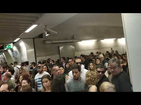 Ταλαιπωρία στο Μετρό της Αθήνας