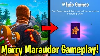 NEW FREE *MINI MARAUDER* BACKBLING GAMEPLAY + MERRY MARAUDER STYLES! (New Fortnite Skin Update)