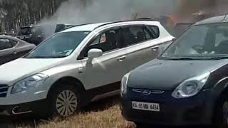 Fire accident Bangalore | 500 cars