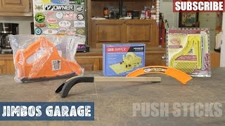 Table Saw Push Sticks - Jimbos Garage