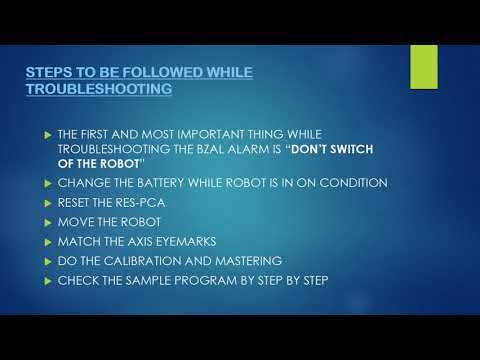 Fanuc robot: BZAL Alarm - YouTube