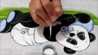 Pintura em tecido - Aula 15 - Ursinho Panda Country