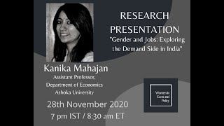 Research Presentation with Dr Kanika Mahajan