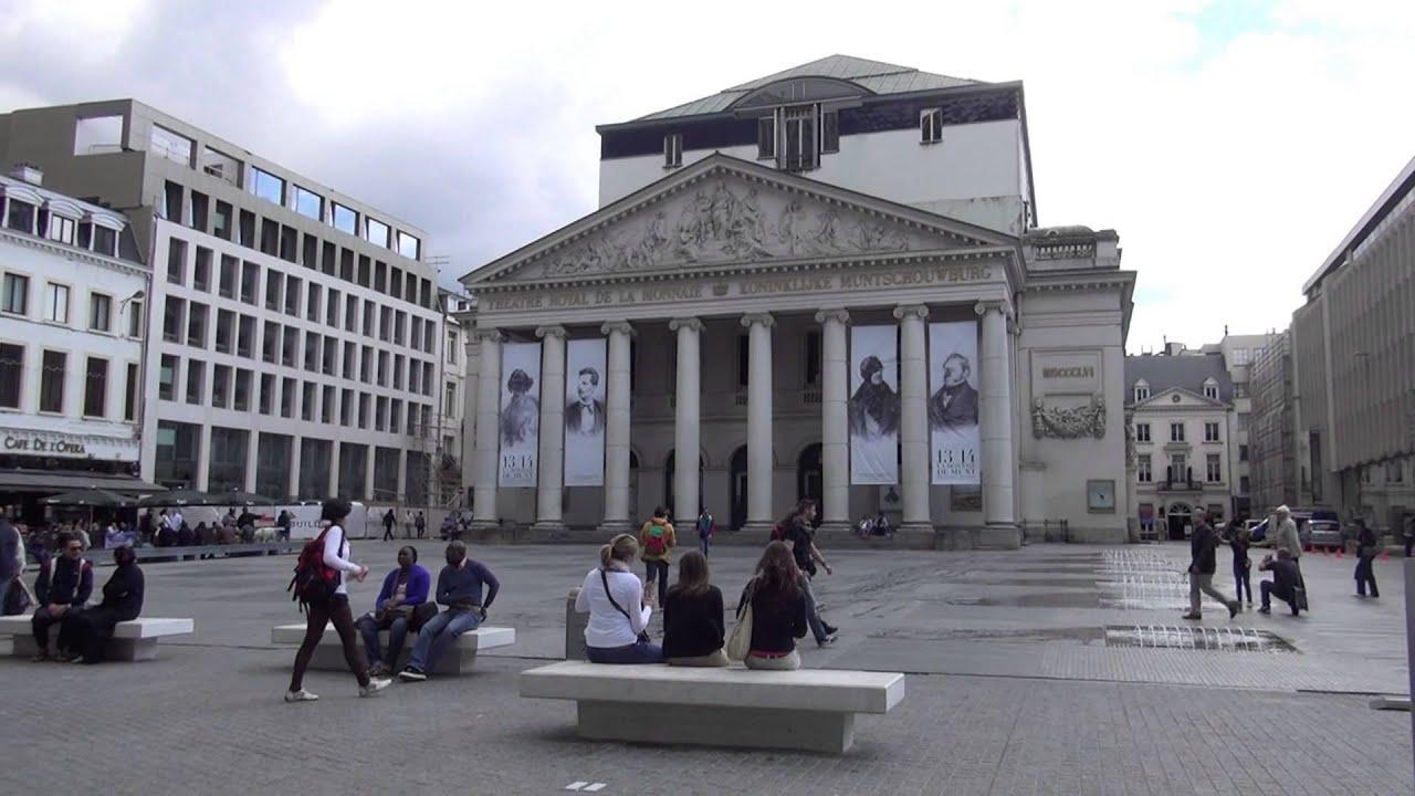 Brussels beurs en muntplein - YouTube