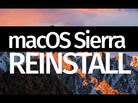 MacOS Sierra: Erase And Reinstall MacOS