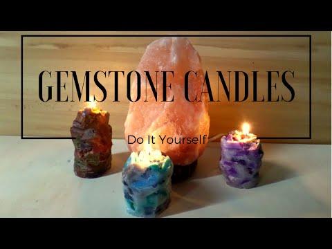 DIY Large Gemstone Candles | Crystal Candle Tutorial | by Fluffy Hedgehog