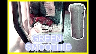 HOW TO MAKE A STRAWBERRY BANANA GREEN SMOOTHIE/THICKIE | ASHLEY DANEILLE