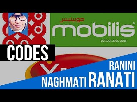Codes Ranati naghmati djezzy ooredoo mobilis...