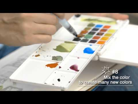 Sakura - How to Paint with Koi Water Colors Pocket Field Sketch Box & Pigma