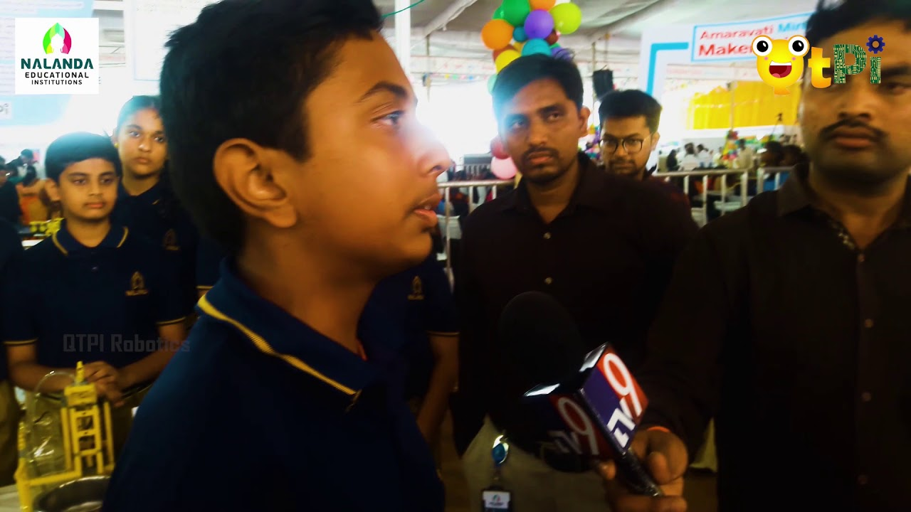 Qtpi Robotics Nalanda Vidyaniketan Covered By Tv9 At Makerfaire