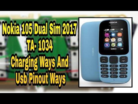 Nokia 105 TA-1034 Charging & USB Pinout Ways
