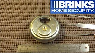 (81) Brinks R80 Maximum Security Disc Padlock SPP