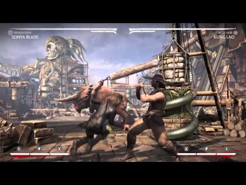 Sonya Blade 65%(One Bar) Unblockable Setup + New Interactable Blockstring Tech