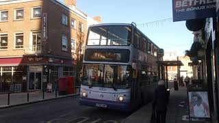 Bus departure at Bridgwater Town centre today
