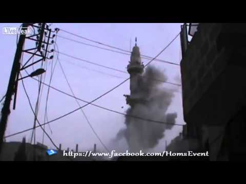 New national sport in Syria- Take down the Minaret.