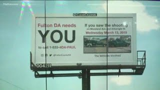 ATLANTA GEORGIA: Billboards created asking witnesses to share information about police shootings
