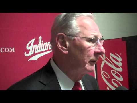 Austin Peay coach Dave Loos reacts to loss at Indiana