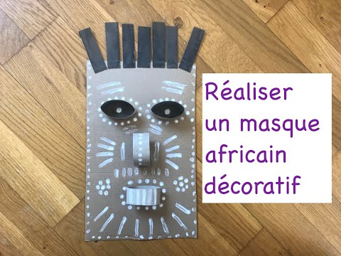 Tuto masque africain