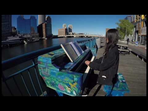 Rachmaninoff Piano Concerto No. 2 Excerpt @ Boston Children's Museum, Street Pianos Boston