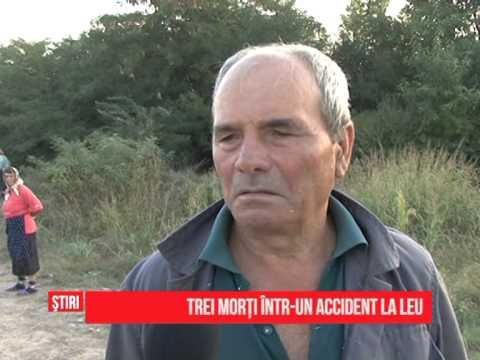 Trei morţi într-un accident la Leu