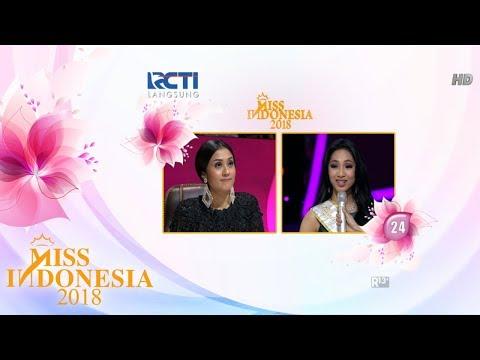 Miss Sulawesi Utara 'TOP 16 Pertanyaan Juri' I Miss Indonesia 2018