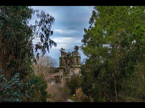 Mosteiro de Seiça   4k Vídeo Aéreo   Descobrindo Portugal Norte a Sul