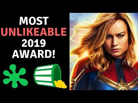 Brie Larson Wins MOST Unlikeable 2019 Award! Avengers Cast Proud!