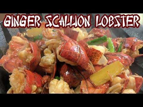 Sauteed Lobster With Ginger And Scallion (蔥薑龍蝦)