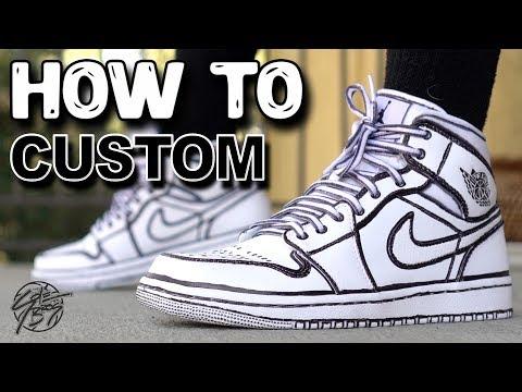 How To: Joshua Vides Jordan 1 Custom! Cartoon Jordan 1!