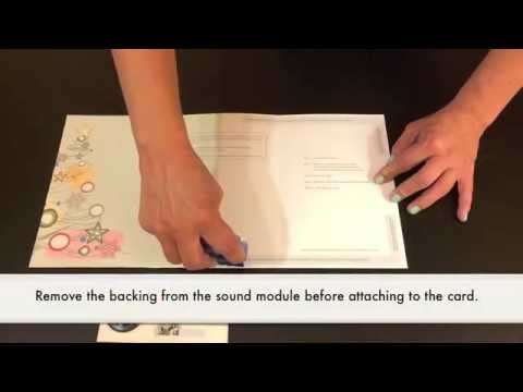 How to Assemble a Musical Sound Module Greeting Card with Recordable Talking Voice Chip
