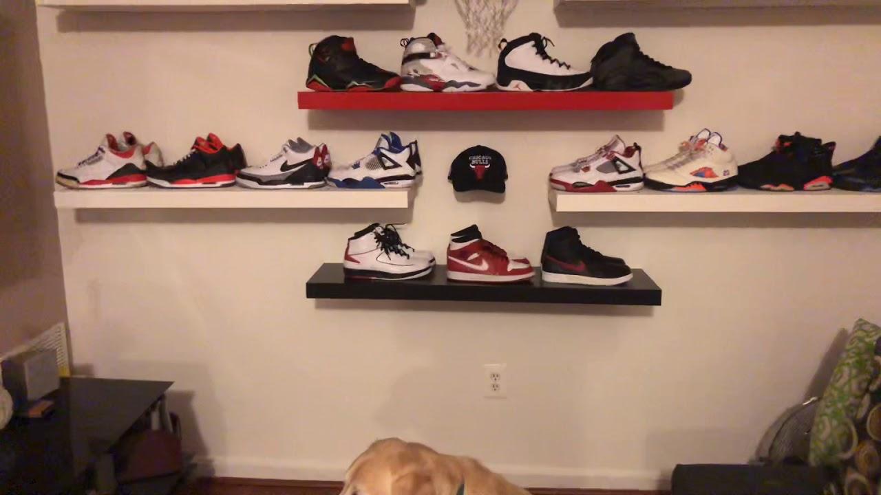 Jordan shoe rack ideas - YouTube