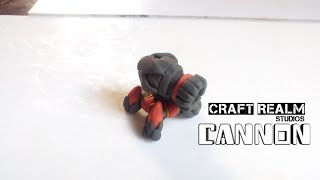 How to make a level 12 clash of clans cannon using polymer clay / simple crafts using clay