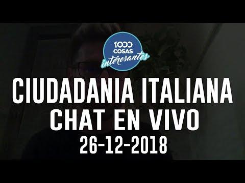 26-12-2018 - Chat en Vivo con Seba Polliotto - Ciudadanía Italiana - 1000 Cosas Interesantes