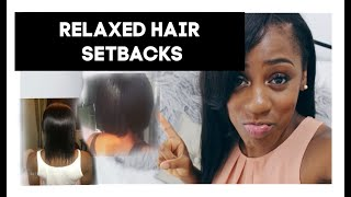 My Relaxed Hair Journey Detailed Set Backs | With Pics