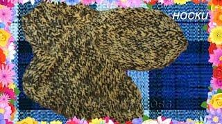Как связать носки для ребенка 1,5 -  2 года, на двух спицах(Вам потребуется: спицы №2, собачья шерсть 40 гр, пряжа беби 40гр Набираем 30 петель и вяжем резинку 22, примерно..., 2014-11-29T04:53:29.000Z)