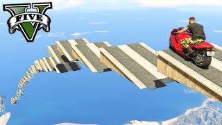 GTA V Online: SKILL TEST 100% ÉPICO com MOTOS!!! (ESCADAS)