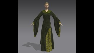 How to Make LOTR Eowyn's Gown in Marvelous Designer