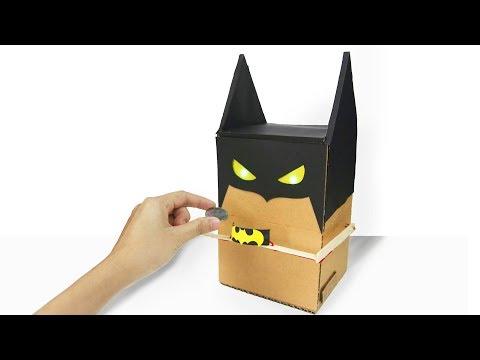 How To Make BATMAN BANK BOX from Cardboard at Home