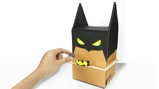 How To Make BATMAN BANK BOX from Cardboard at Home