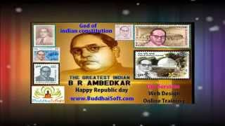Indian Republic day 2015  Father of our indian constitution dr.ambedkar -  www.buddhaisoft.com