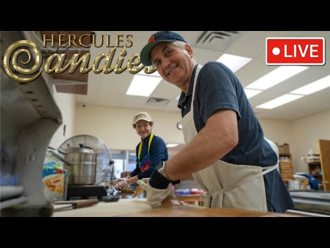 Making Peanutbutter Filled Ribbon Candy With Terry & Steve