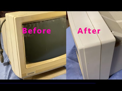 Cleaning & restoration of a very dirty and abandoned vintage Samtron VGA Color Display.