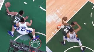 NBA 2K19 vs IRL - Giannis Dunks on Ben Simmons