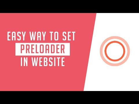 Very Easy way to set preloader in website | How to add preloader in html page