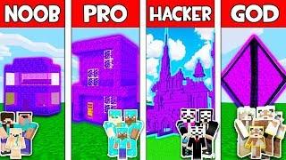 Minecraft - NOOB vs PRO vs HACKER vs GOD : PORTAL HOUSE BUILD CHALLENGE in Minecraft! Animation