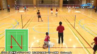 【バドミントン練習法DVD】大泉中男女バドミントン部 初心者から全国レベルへの挑戦 Disc2sample